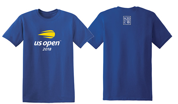 US Open 2018 Official Logo Tee (M) Royal